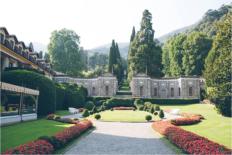 Second shooting with Fiona Clair in Lake Como at Villa d'Este